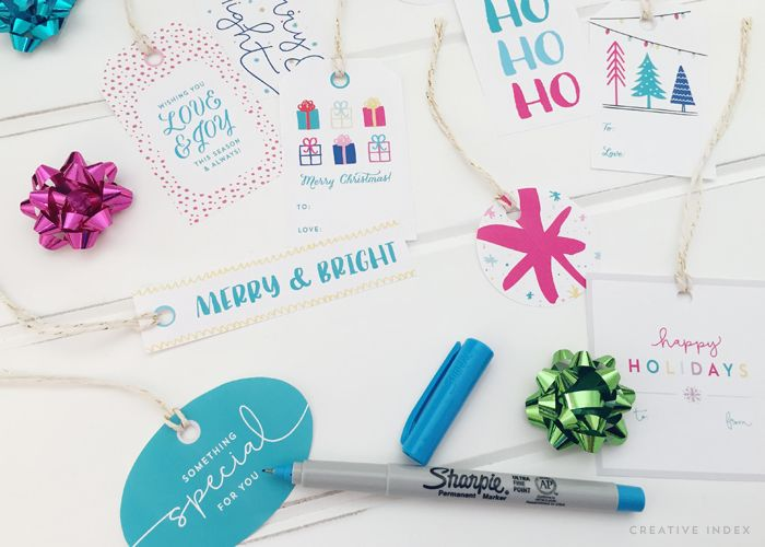 Free Printable Holiday Gift Tags by Creative Index