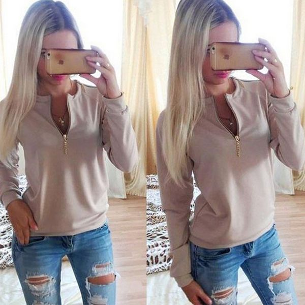Cotton Women Sweatshirts, different size for choice, Solid, more colors for choice - yyw.com