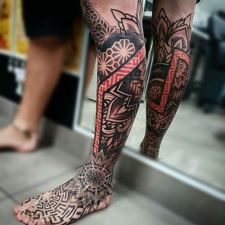 Killer Leg Tattooing by Kaelin Chee