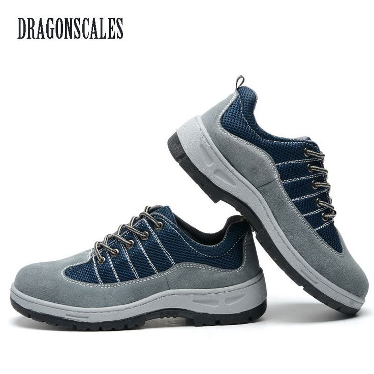 check discount dragonscales air mesh men boots work safety shoes steel toe cap for anti smashing puncture #mesh #caps