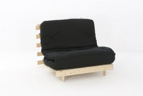 Save £60 (26%) off  Futon folds out from a sofa into a 2'6 Single bed Perfect for children or visiting friends or family Space Saving & Easy to move Sofa: W76 x D85 x H75 cm Bed: W76 x L195 x H17 cm