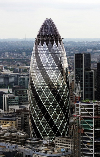 Norman Foster - St. Mary Axe (The Gherkin), London, UK,