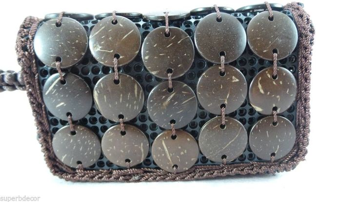 Handmade Purse from Coconut Shell in Natural Color  #Handmade #Clutch