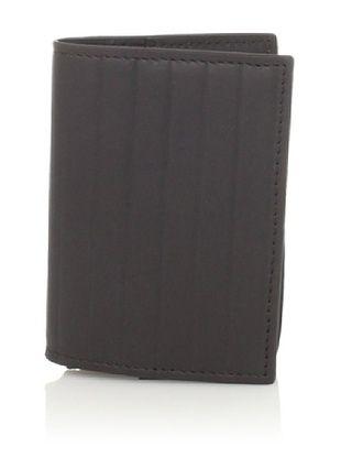 58% OFF Joseph Abboud Men's Pinstripe Embossed Flip Passcase Wallet (Brown)