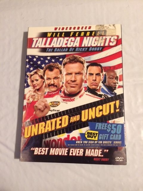 Talladega Nights: The Ballad of Ricky Bobby (DVD, 2006, Unrated Edition;...