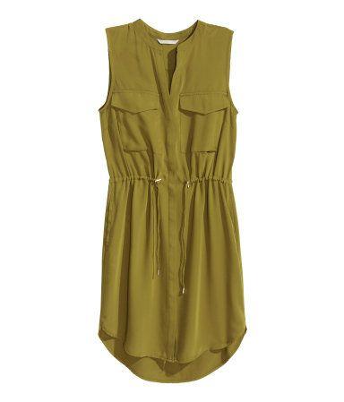 Sleeveless shirt dress | Ladies | H&M NZ