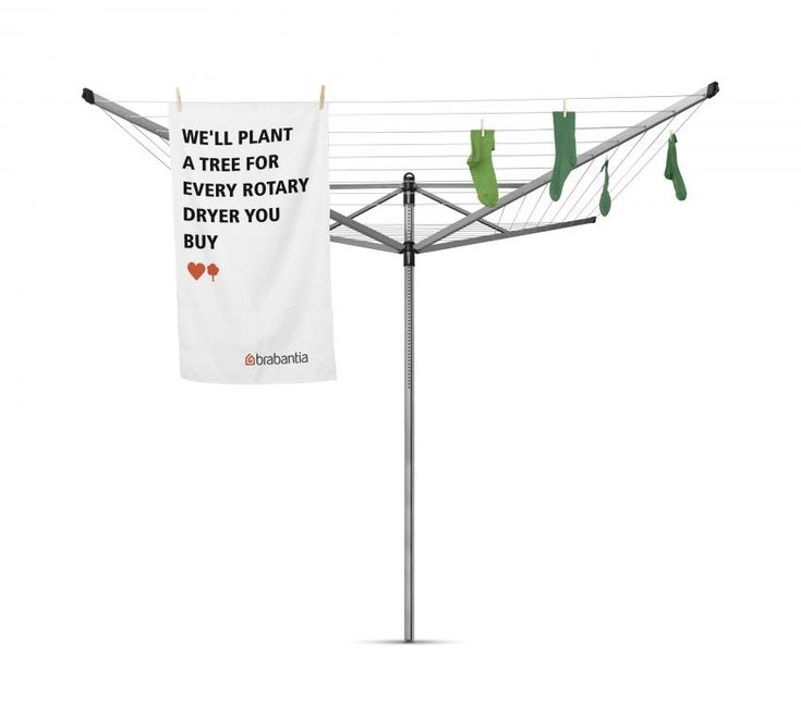 Brabantia together with WeForest, will plant a tree for every rotary dryer or drying rack you buy. #LoveNature