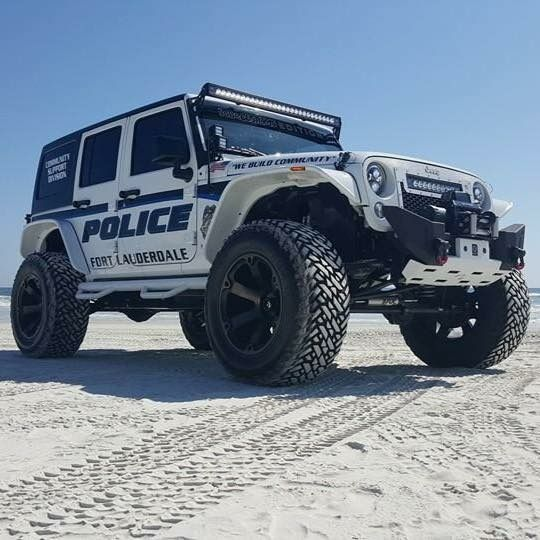 Police Jeep - Customized and Donated to the Ft Lauderdale PD
