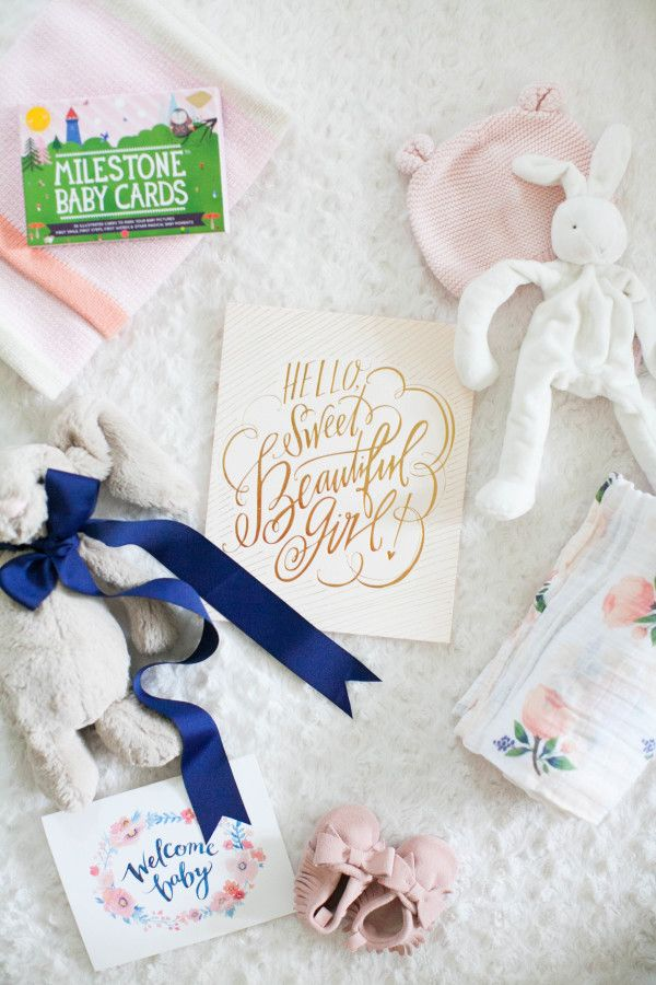 All of the baby goodies: http://www.stylemepretty.com/living/2015/10/29/little-bunny-baby-gift-box/