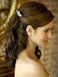 Výsledek obrázku pro svatební účesy pro dlouhé vlasy na stranu