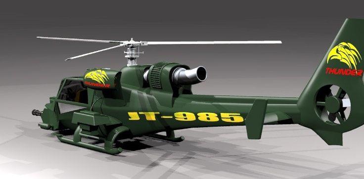 Helicopter Rhino 3D Model - 3D Model
