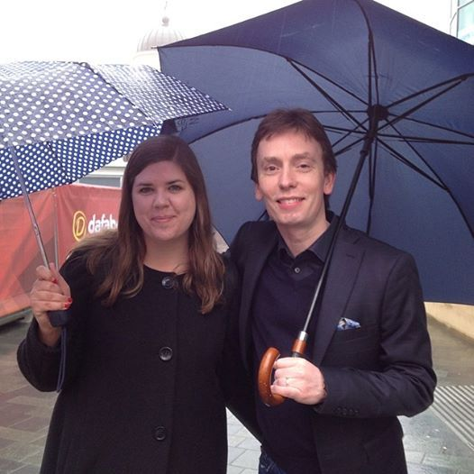 Me and Ken Doherty outside The Crucible.
