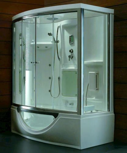Photo On Steam Planet Luxury steam bath with whirlpool tub x x Left hand unit