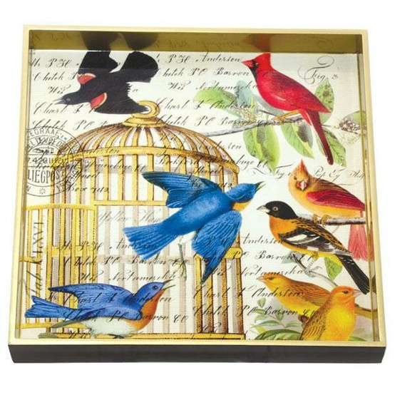 Square wooden tray, birdcage pattern and other stunning designs available, at £39.50 from harpermack.com
