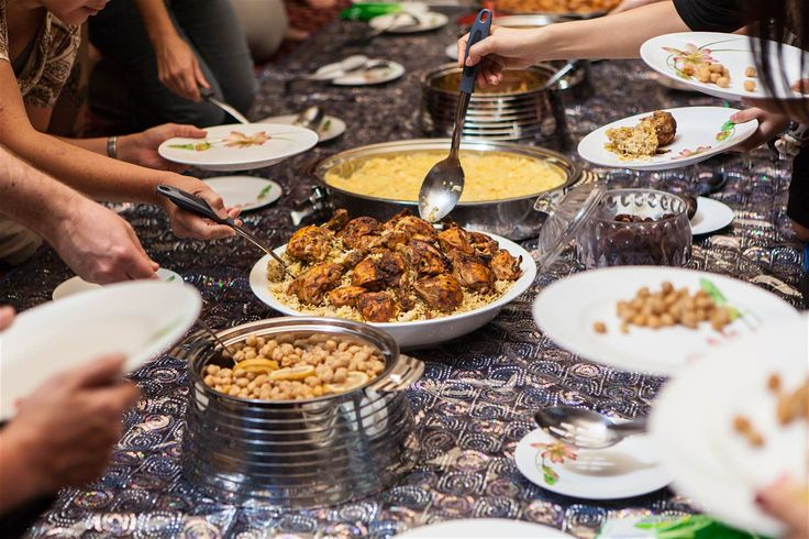 Food is served in the majlis at the Sheikh Mohammed Centre for Cultural Understanding © Glen Pearson