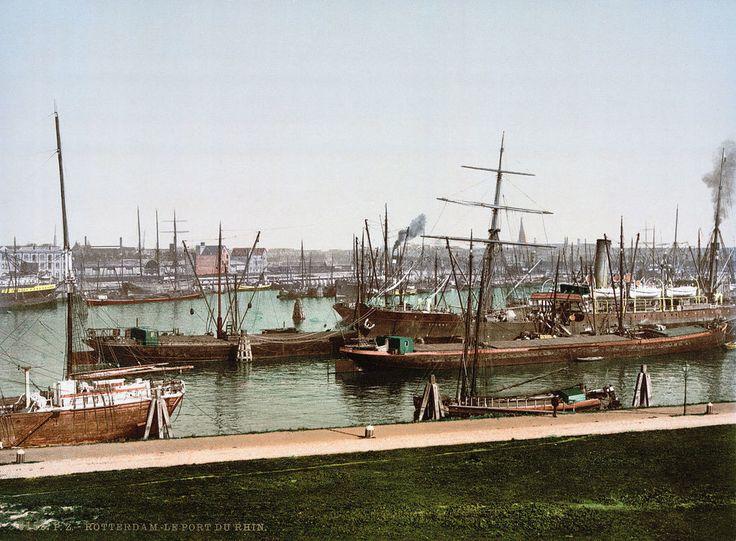 Rijnhaven Rotterdam (jaartal: 1900 tot 1910) - Foto's SERC