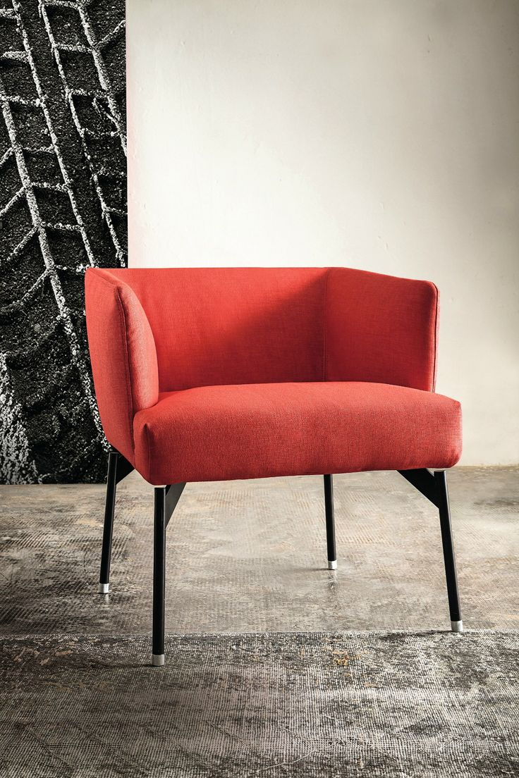 Upholstered Easy Chair With Armrests 770 LEVEL @vibieffe Gallery