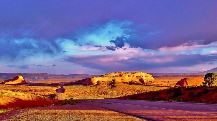 Just Before Sunset, Desert Road Near Moab, Utah: Desert Roads, Trips Photos, Roads Trips