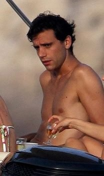 Mika in a boat on vacation in Corsica