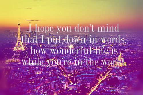 I hope you don't mind that i put in words, how wonderful life is with you in the world..♥....