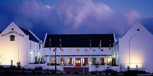 Exterior at Night at Stellenbosch Lodge Country Hotel. Quote & Book: http://www.south-african-hotels.com/