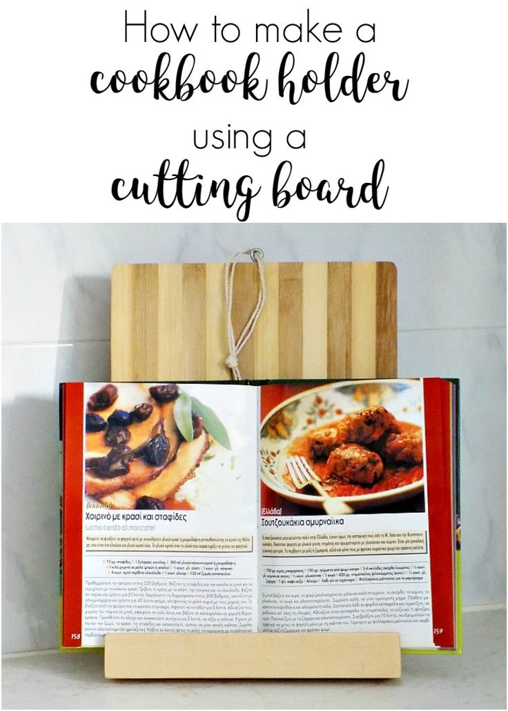 how-to-make-a-cookbook-holder