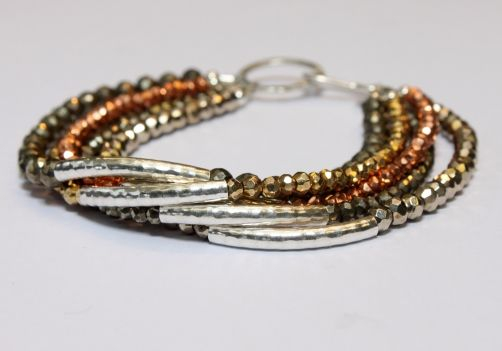 multi-strand bracelet.  The link doesn't go anywhere helpful, but this picture's enough.