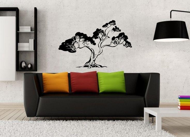 kik16 Wall Decal Sticker nature bonsai tree living room bedroom