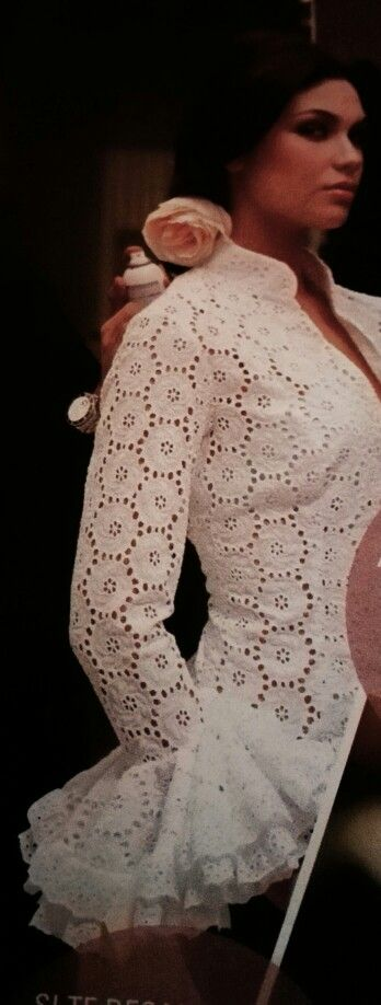 Blusa flamenca - rendas e fricotes