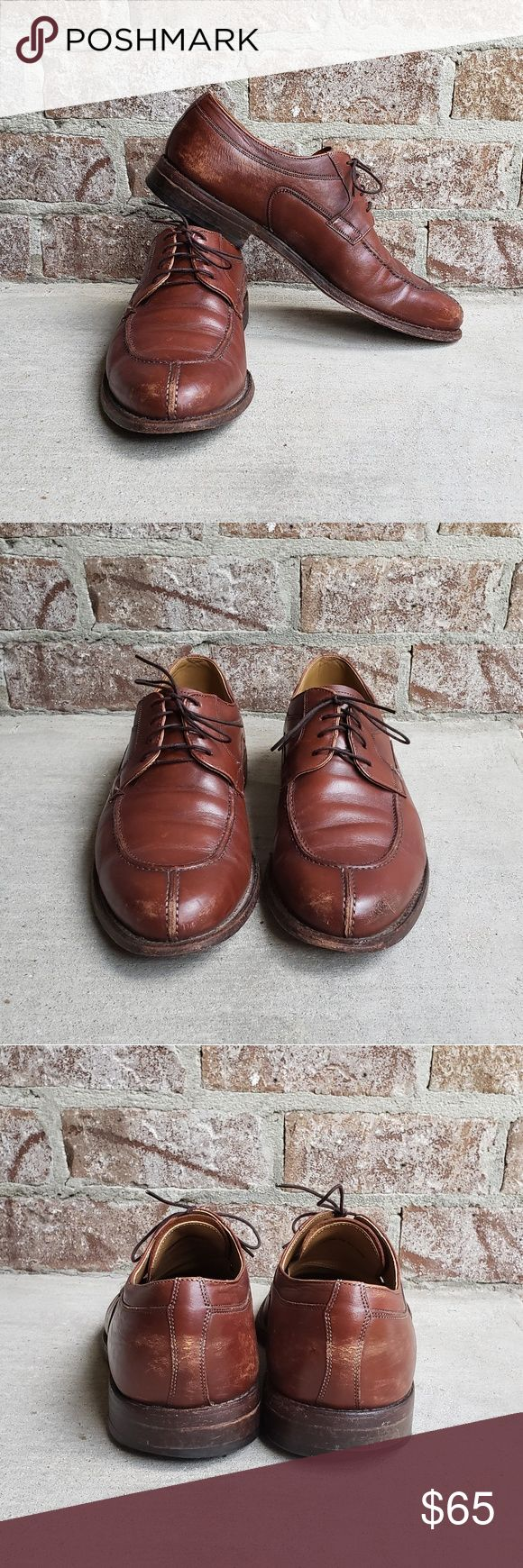 Johnston & Murphy Leather Split Toe Derby Johnston…