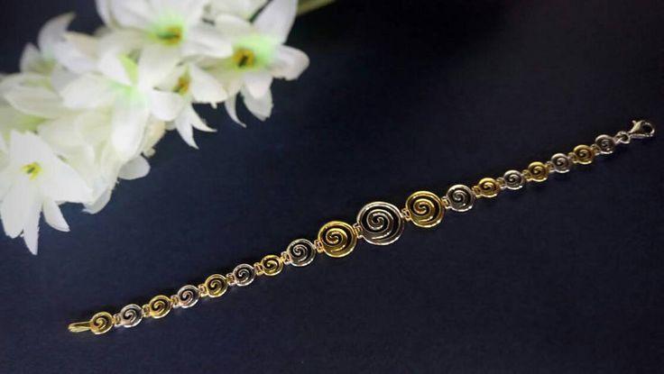 Greek Spiral silver bracelet greek jewelry by ThetisTreasures