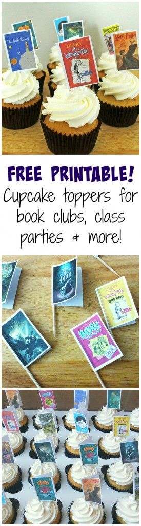 Book Party Cupcake Toppers- A Turtle's Life for Me