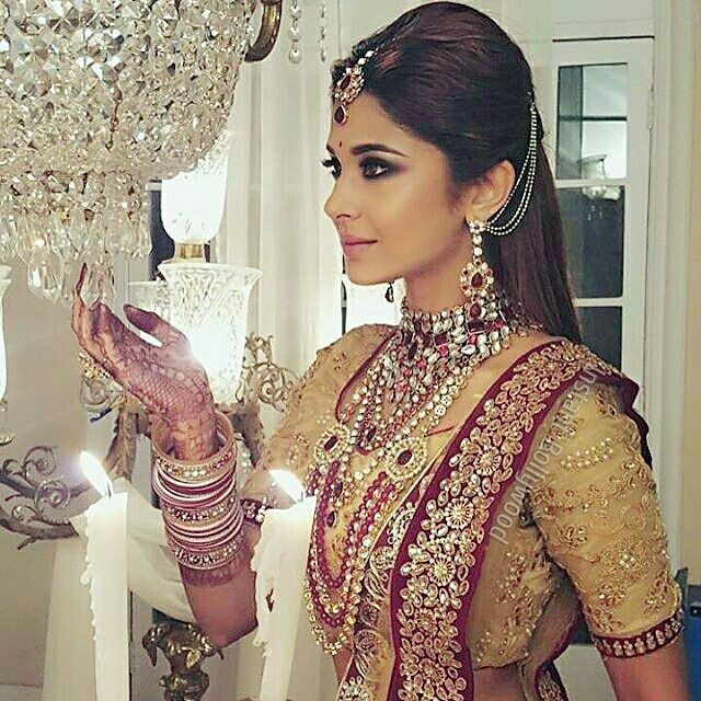 Her beauty is beyond words! Jennifer Winget as a bride in Beyhadh! Follow  @DesiClassyBrides for more!