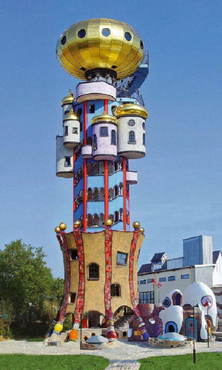 Kuchlbauer tower germany pinterest towers for Hundertwasser architektur