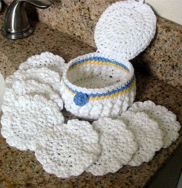 Clam Shell Scrubbies Set: free pattern