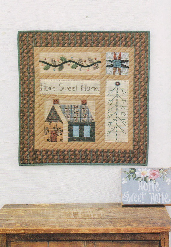 Home sweet Home Quilted wall hanging Sue Pdf Pattern by dickdocker, $5.00