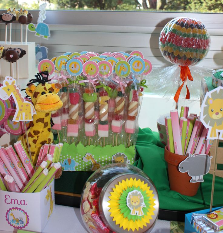Jungle Themed Candy Buffet by Violeta Glace