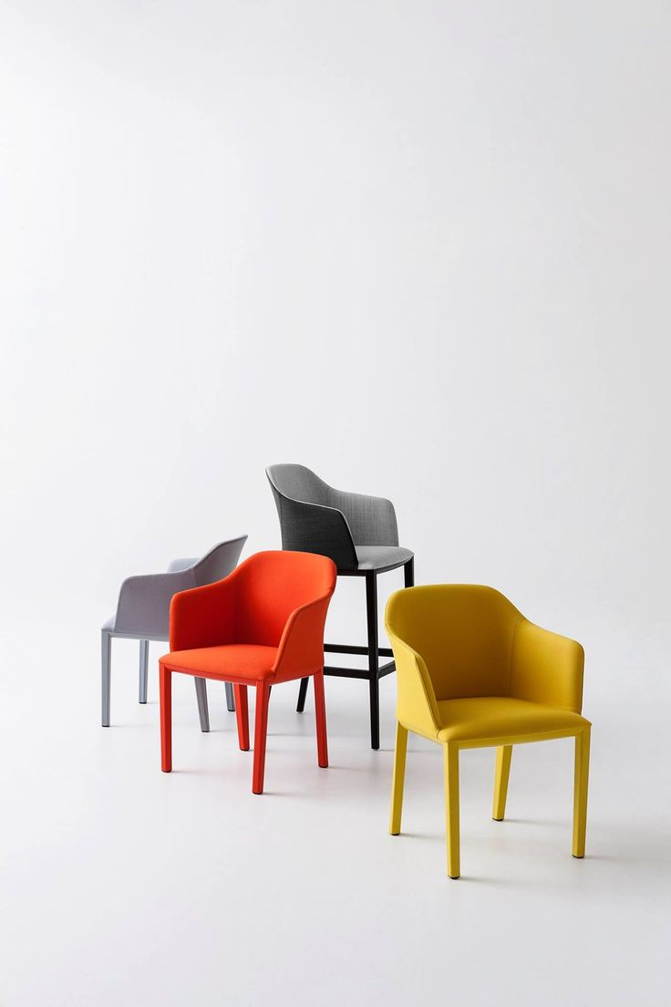 Manaa is #contract: sinuous lines, strong techno polymer frame and large range of fabrics. #designchair http://www.gaber.it/en/upholstered-chairs/manaa