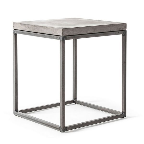 Table D Appoint Beton 35 X 35 X H 40 Table Basse Metal Table Basse Design Table Basse Beton
