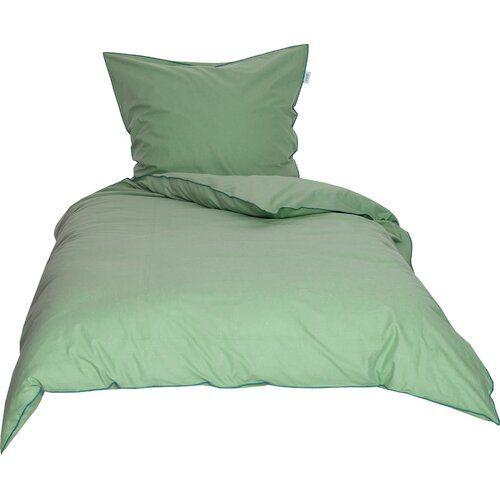Mako Satin Bettwasche Slub Schoner Wohnen Grosse 135 X 200 Cm 1 Kissenbezug 80 X 80 Cm Farbe Grun In 2020 Bed Home Satin