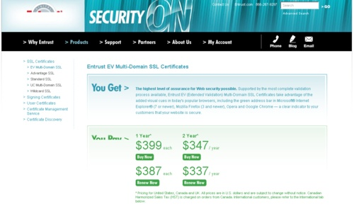 The highest level of assurance for Web security possible.
