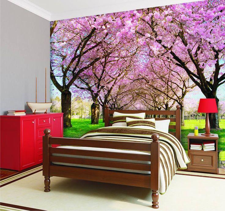 Wiosenna propozycja do sypialni. Więcej aranżacji szukajcie tu: http://mural24.pl/aranzacje/ #homedecor #fototapeta #obraz #aranżacjawnętrz #wystrójwnętrz, #decor #desing