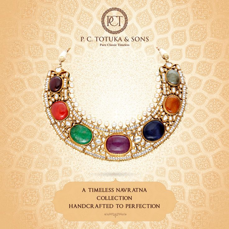Opulent designs by P.C. Totuka & Sons carved in precious Navratna stones & minakari that replicate the mystique of yesteryears. Worthy of becoming cherished heirlooms. ‪#BridalCollection #Brides #Jewelry #Navratna #Jaipur #WeddingCollection #Contemprory #Authentic #Gold  #Pearls ‬
