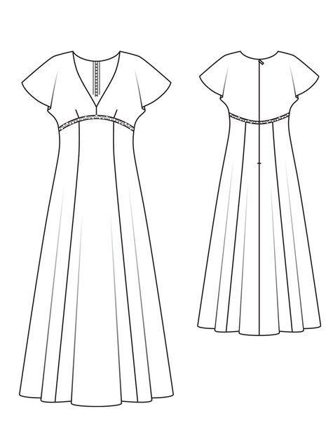 Empire dress pattern from Burda.
