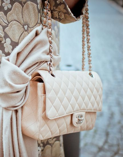 peach chanel bag