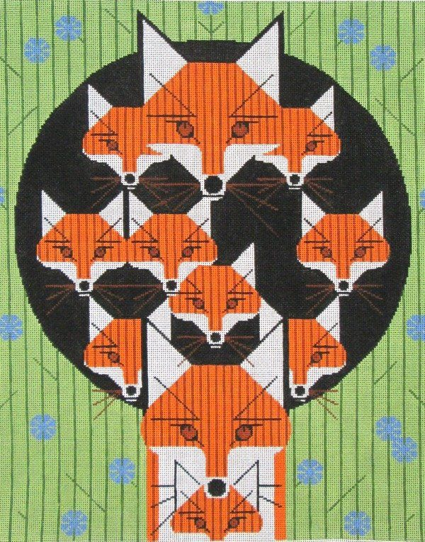 Charley Harper NeedlepointFoxsimilies (In Stock)