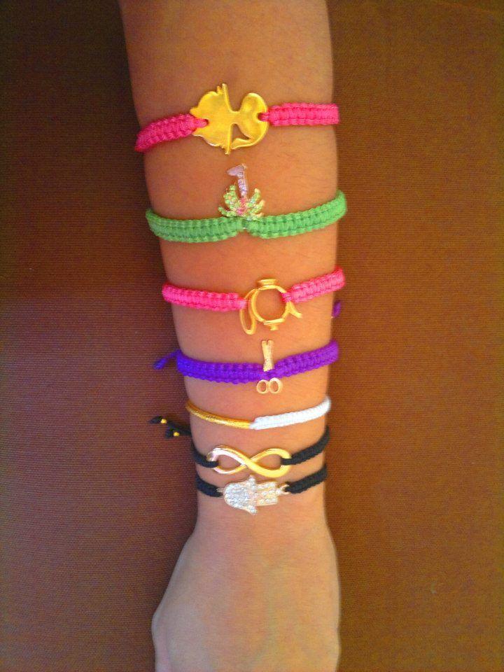 different macrame bracelets