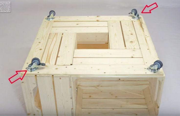 Fabriquer une table basse avec des caisses de vin