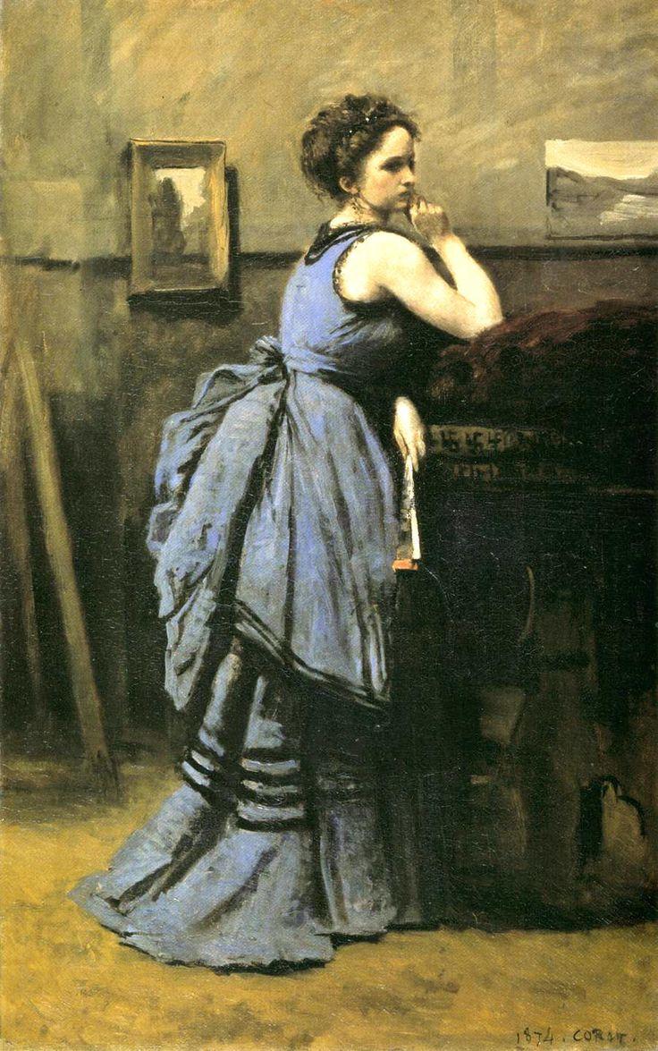 Jean Baptiste Camille Corot (1796-1875), 1874 Oil on canvas, 80 x 50 cm Musée du Louvre, Paris