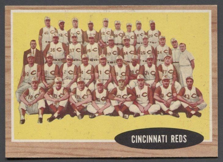 1962 Topps Cincinnati Reds Team #465 NM/MT Condition